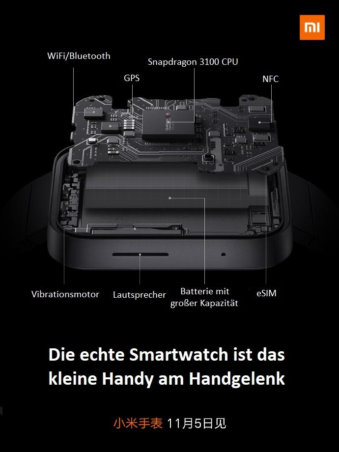 Xiaomi Smartwatch technische Daten
