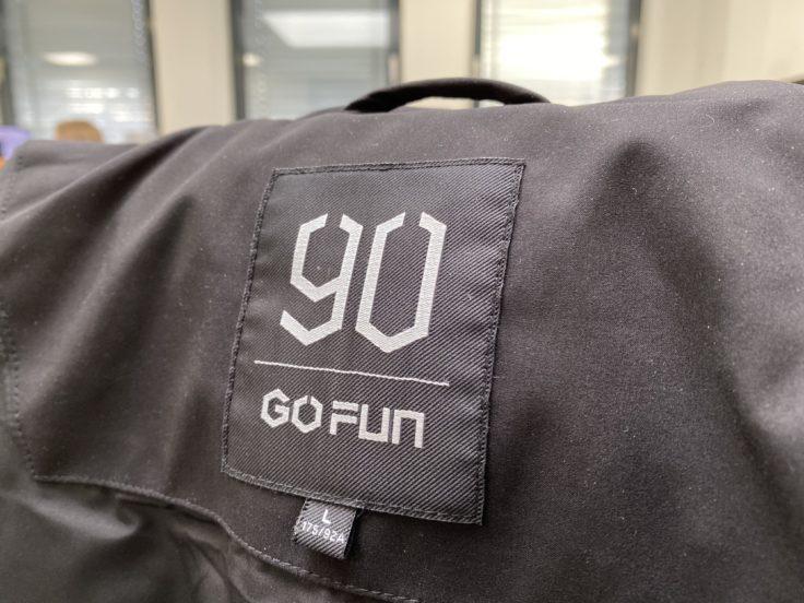 90FUN Daunenjacke Etikett Logo