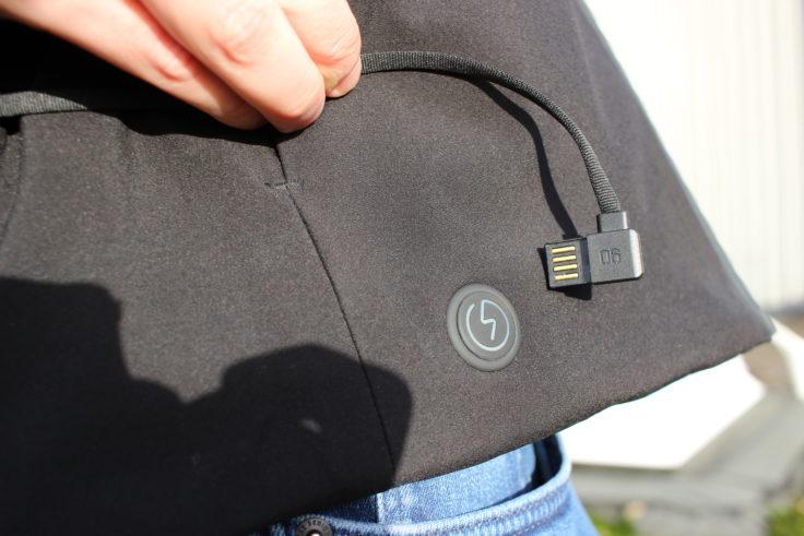 90FUN Daunenjacke beheizt USB-Anschluss