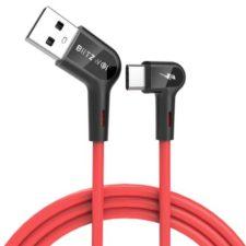 Blitzwolf USB Typ-C Kabel weißer Hintergrund.