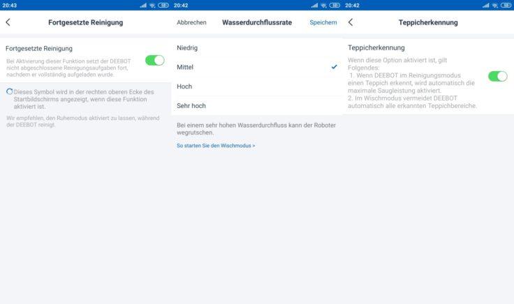 Ecovacs Deebot Ozmo 960 Saugroboter App Einstellungen