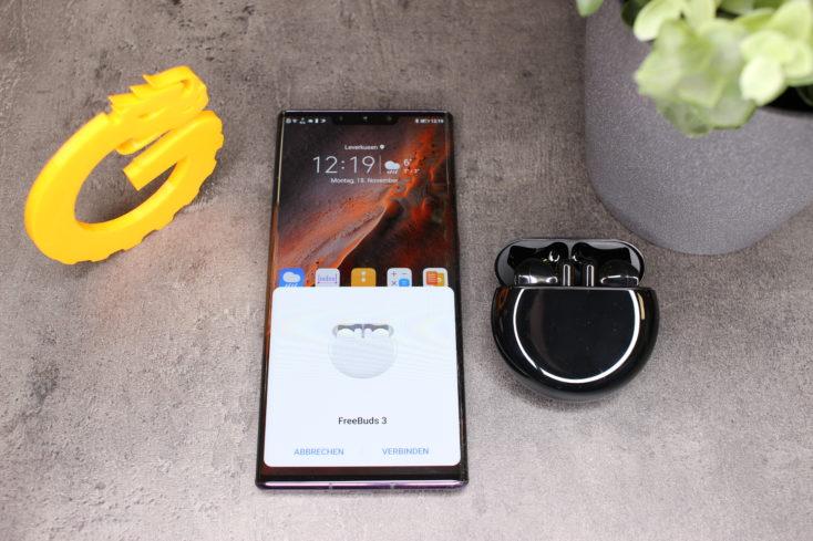 Huawei FreeBuds 3 pairing