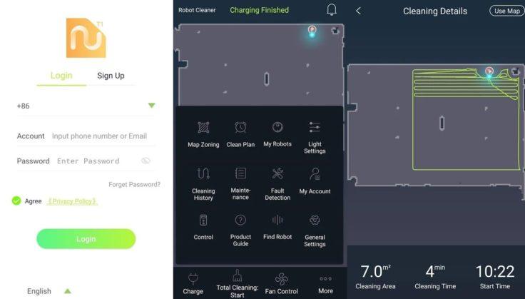 Lenovo T1 Pro Saugroboter App Steuerung