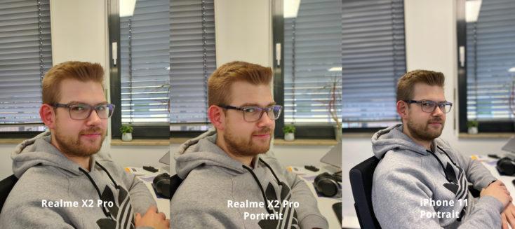 Realme X2 Pro Hauptkamera Portrait Vergleich