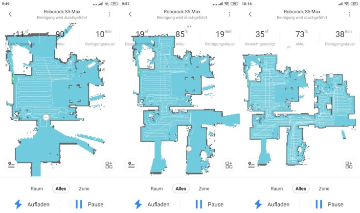 Roborock S5 Max Saugroboter App Mapping