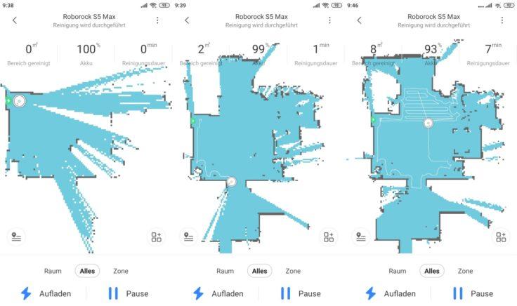 Roborock S5 Max Saugroboter App Mapping Beginn