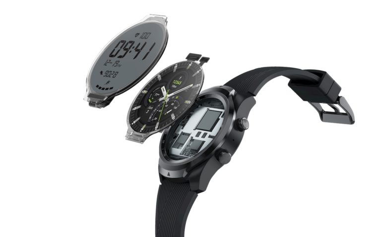 TicWatch Pro 4G LTE zwei Displays