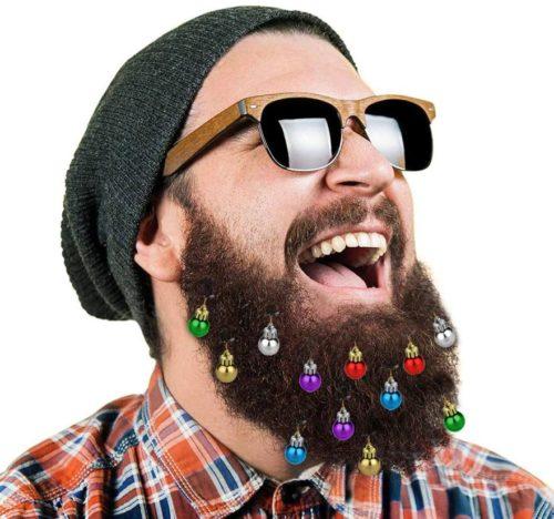 Weihnachtskugeln Bart