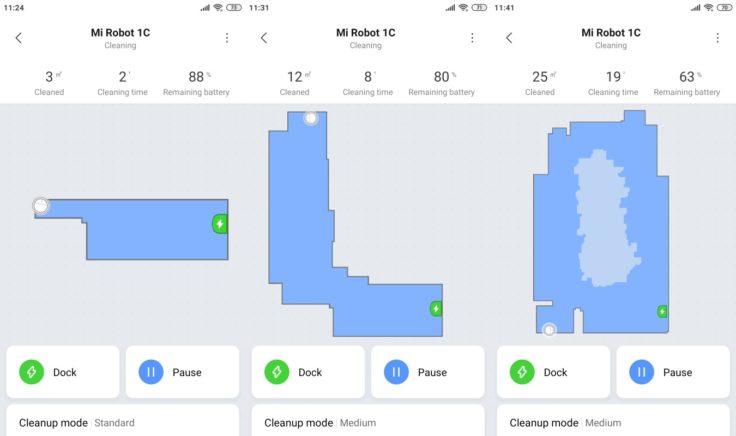 Xiaomi Mi Robot 1C Saugroboter App Mapping