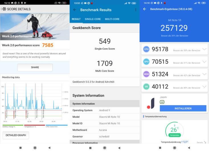 Xiaomi Mi Note 10 Benchmarks