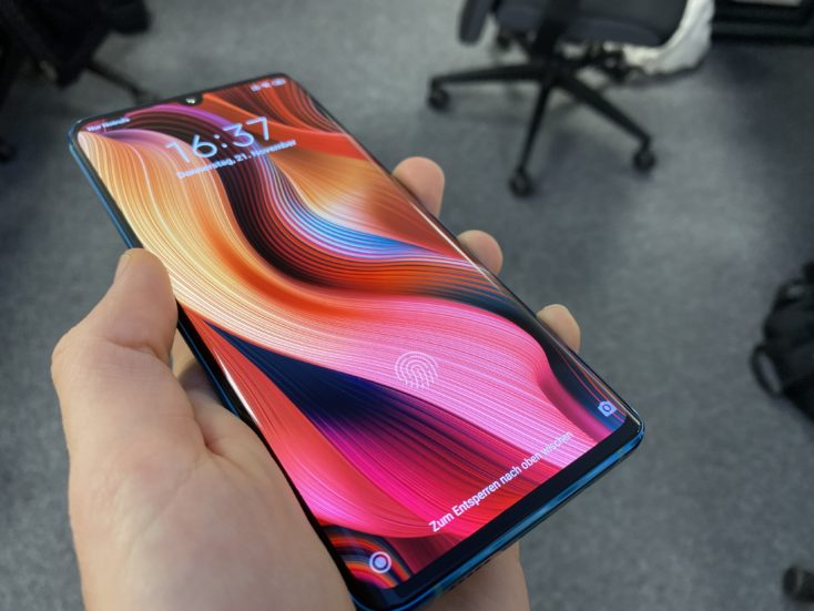 Xiaomi Mi Note 10 Fingerabdrucksensor im Display