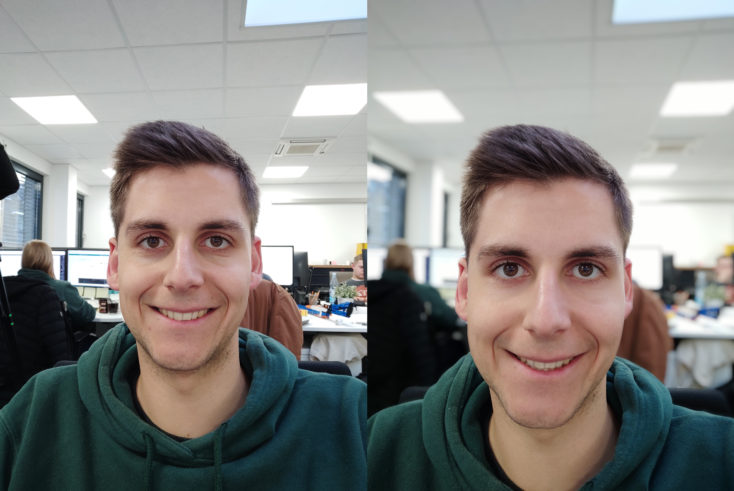 Xiaomi Mi Note 10 Frontkamera Portrait Vergleich