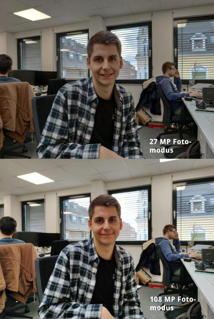 Xiaomi Mi Note 10 Hauptkamera Belichtung Unterschied