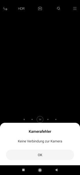 Xiaomi Mi Note 10 Kamerafehler