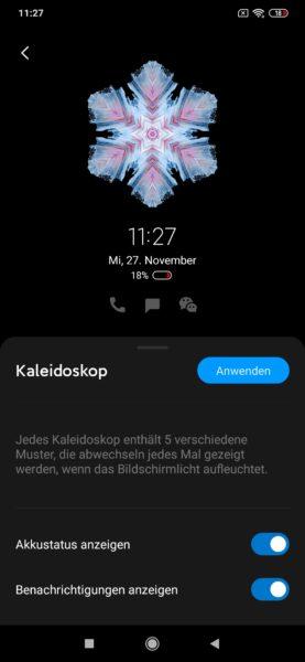 Xiaomi Mi Note 10 MIUI Always On Display Einstellungen 1