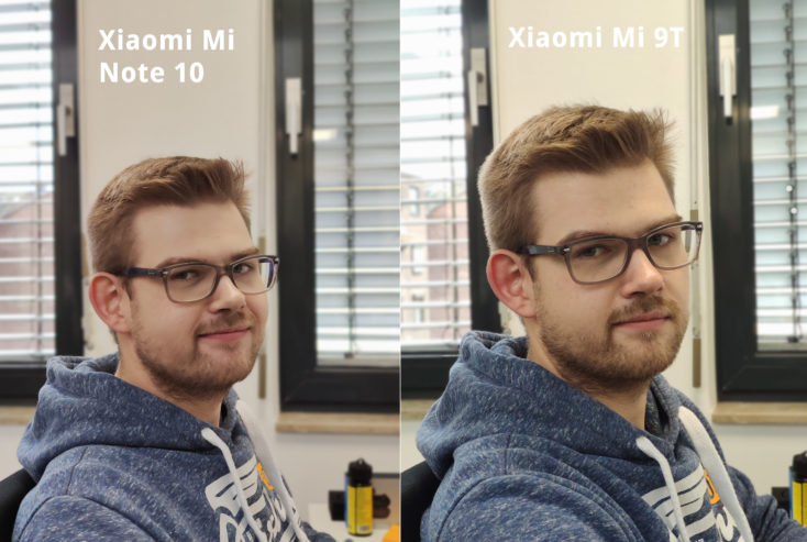 Xiaomi Mi Note 10 Portrait vs Mi 9T