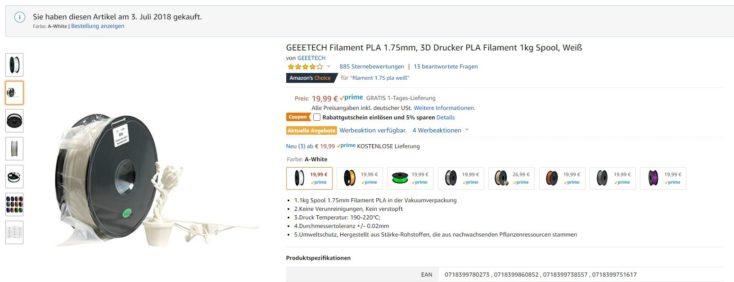 Geeetech Filament