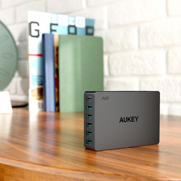 AUKEY 60W USB-Ladegeraet Design