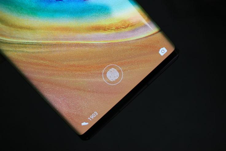 Huawei Mate 30 Pro Fingerabdrucksensor