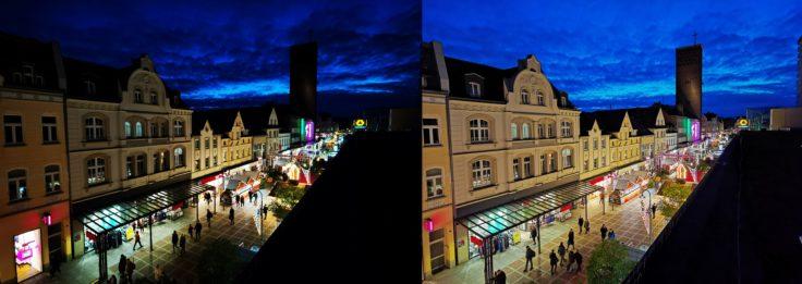 Huawei Mate 30 Pro Nachtmodus Dach Ultraweit