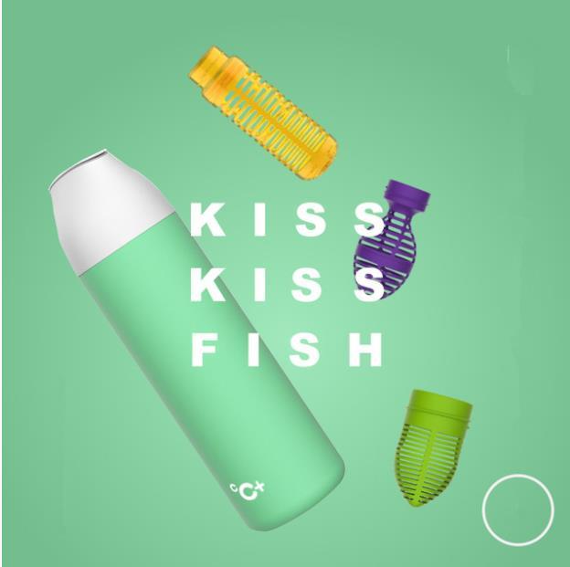 Kiss Kiss Fish Thermobecher Gruen