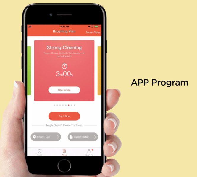 Oclean X Pro elektrische Zahnbürste App