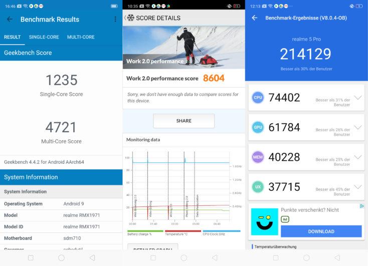Realme 5 Pro Benchmarks
