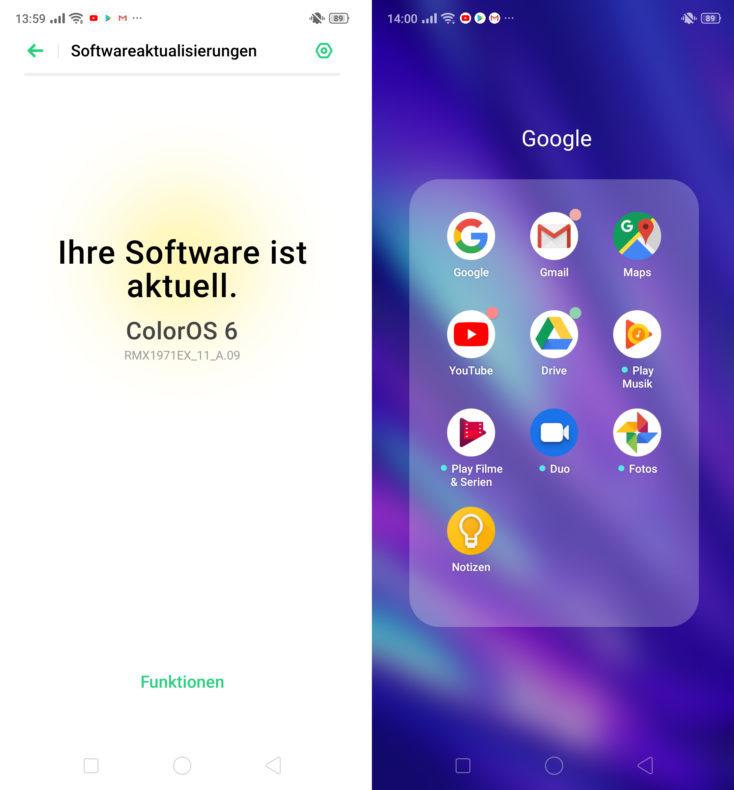 Realme 5 Pro Google Dienste Color OS 6