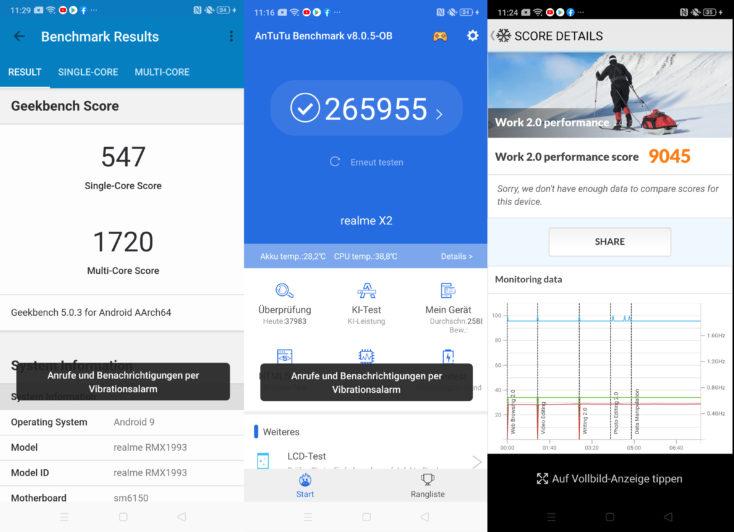 Realme X2 Smartphone Benchmarks