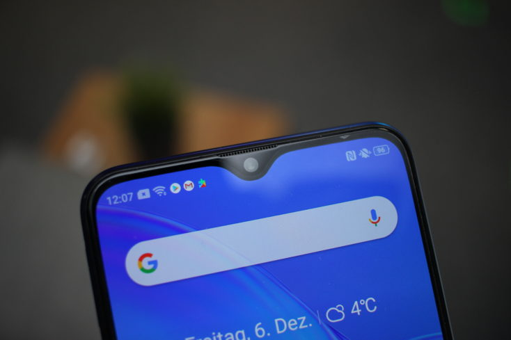 Realme X2 Waterdrop Notch