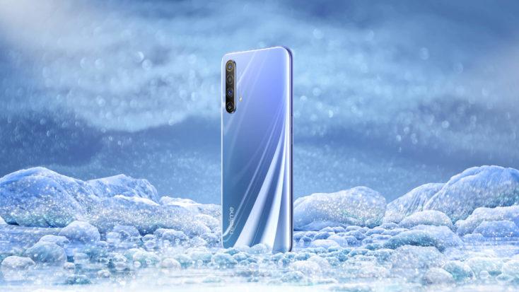 Realme X50 Smartphone Ruckseite Gletscherblau
