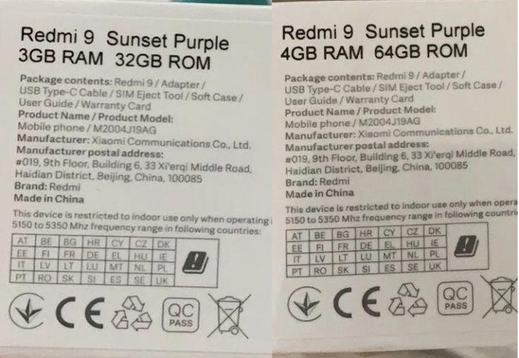 Redmi 9 Smartphone Speicher Box