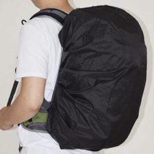 Rucksack Regenschutz schwarz Mann