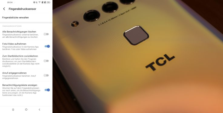 TCL Plex Fingerabdrucksensor