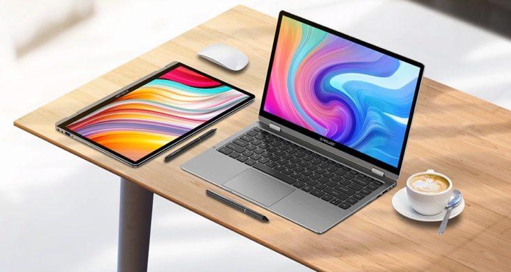Teclast F6 Plus Notebook auf Tisch