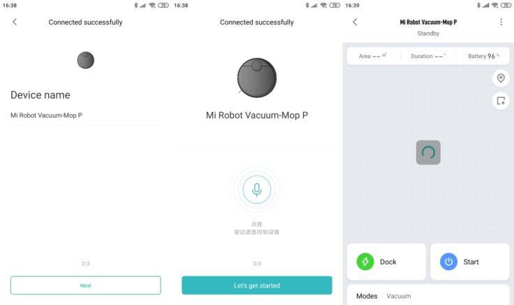 Xiaomi Mijia LDS Saugroboter Xiaomi Home App WLAN-Verbindung