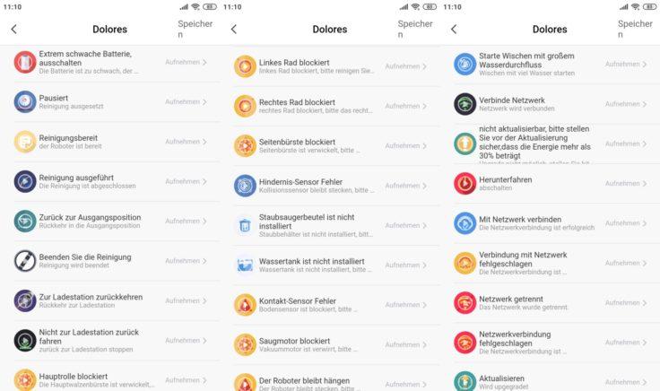 Zigma Spark 980 Saugroboter App Einstellungen Sprachpaket benutzerdefiniert