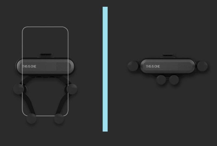360° Smartphone-Halterung schwarzer Hintergrund.