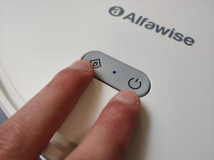 Alfawise V10 Max Saugroboter Buttons WLAN