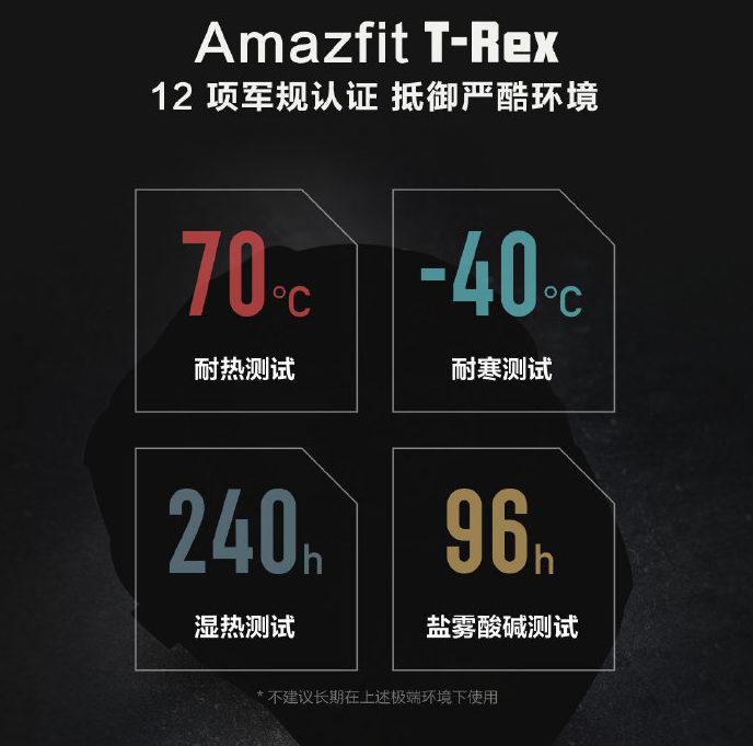 Amazfit T-Rex Militarzertifizierungen