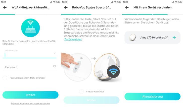 Anker eufy L70 Saugroboter Verbindung App WLAN