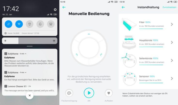 Anker eufy L70 Hybrid Saugroboter App Fernbedienung