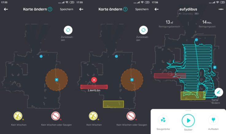 Anker eufy L70 Saugroboter App Mapping No-Go-Zonen