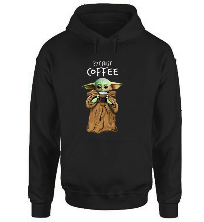 Baby Yoda Coffee Hoodie