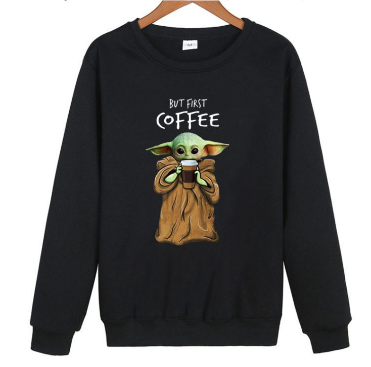 Baby Yoda Coffee Sweater