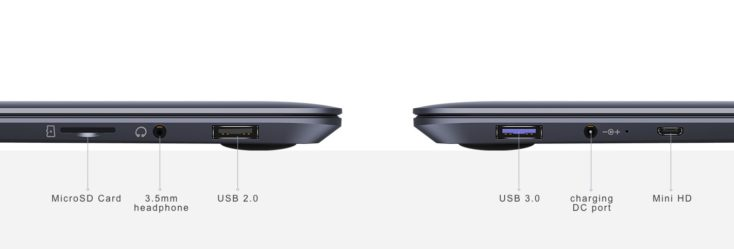 CHUWI HeroBook Pro Ports
