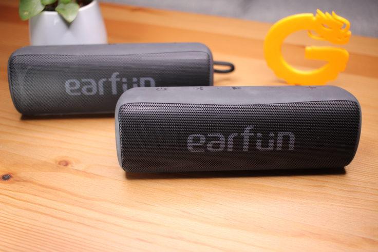 Earfun Go Stereo mit zwei Boxen