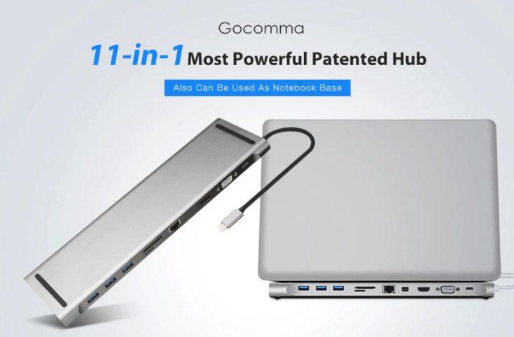 Gocomma 11 in 1 USB Hub Notebook
