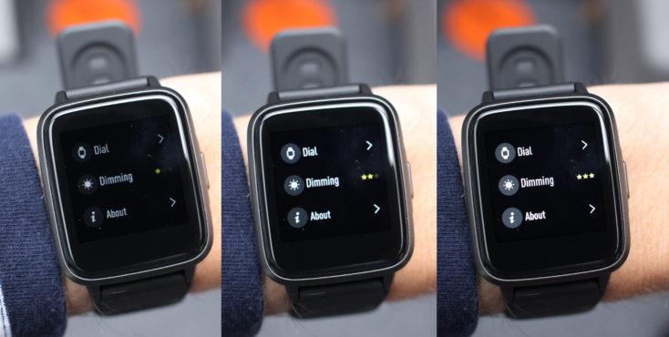Haylou LS01 Smartwatch Helligkeit
