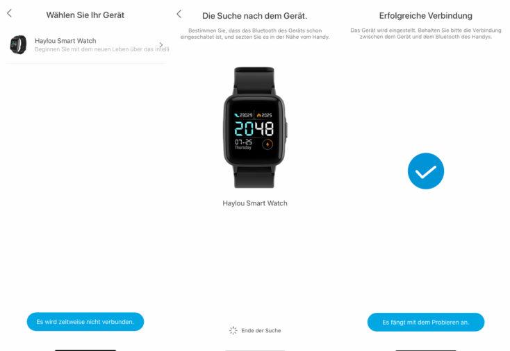 Haylou Smartwatch App Einrichtung